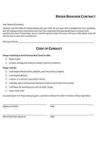Brider Behavior Contract