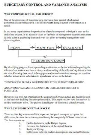 Budgetary Control and Variance Analysis
