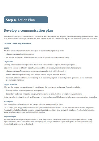 Communication Action Plan