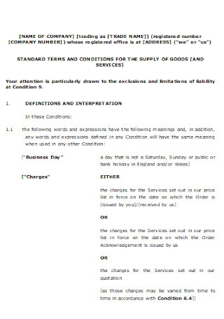 Company Sales Contract Template