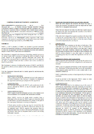 Corporate Bond Agreement Template