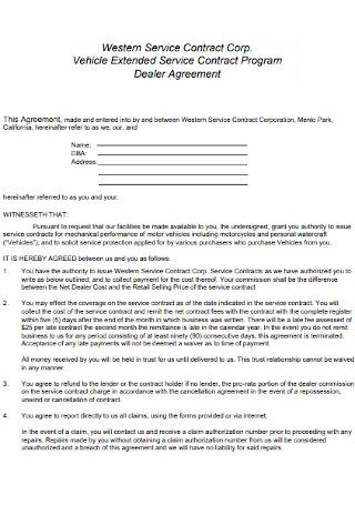 Corporation Service Contract