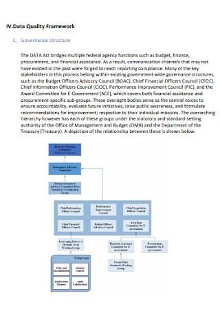 Data Quality Framework Plan