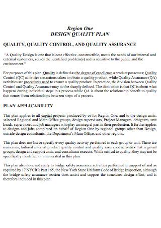 Design Quality Plan Template