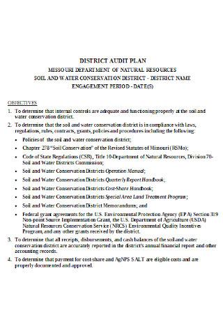 District Audit Plan