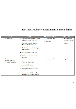 District Recruitment Plan