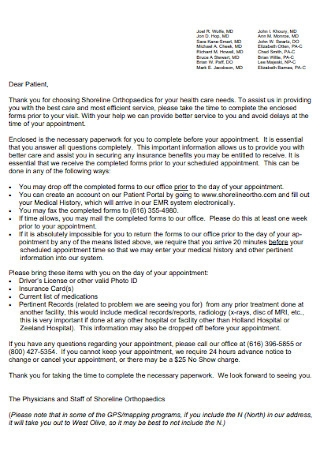 Doctor Healthcare Appointment Letter
