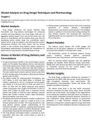 Drug Market Analysis Template