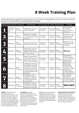 Eight Weeks Training Plan