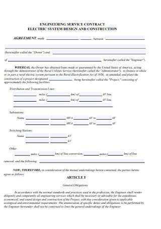 Engineering Service Contract