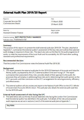 External Audit Plan Template