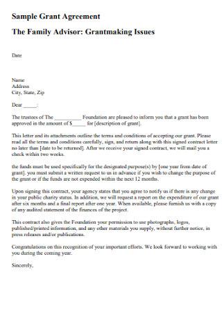 Family Grant Agreement
