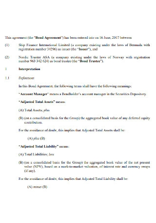Financial Bond Agreement
