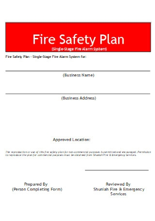 Fire Safety Plan Template