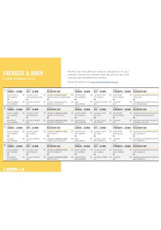 Four Weeks Workout Plan