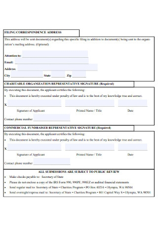 Fundraising Service Contract