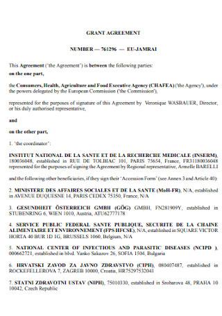 Grant Commission Agreement