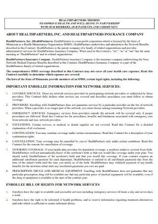 Group Memebership Contract