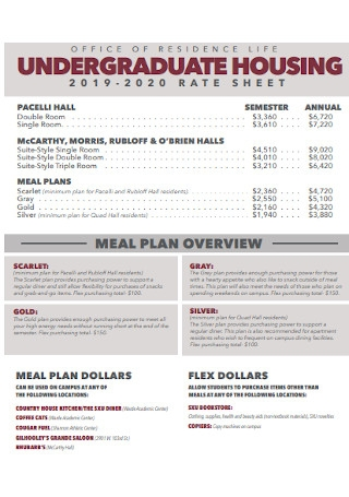 House Meal Plan Template