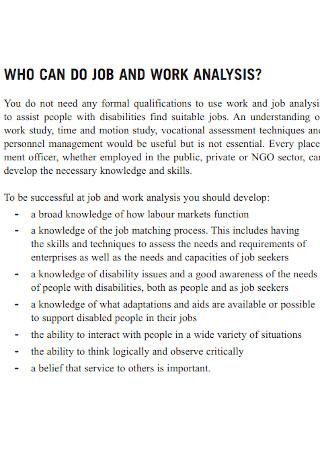 Job Work Analysis Template