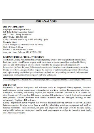 Job Work Analysis Templates