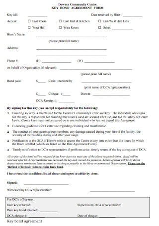 Key Bond Agreement Form