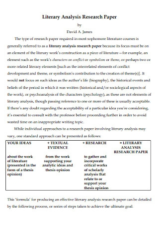 Literary Analysis Research Paper