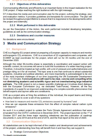 Media and Communication Plan