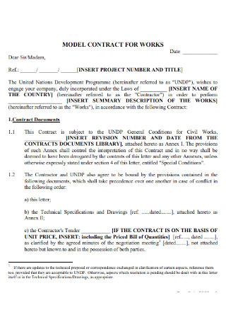 Model Work Contract