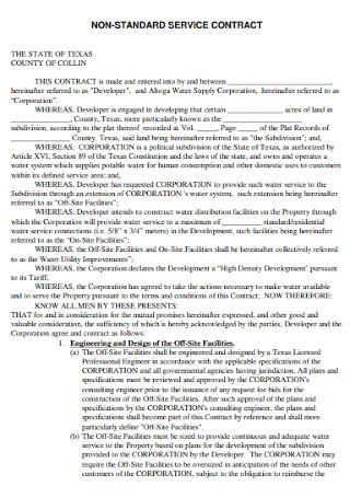 Non Standard Service Contract