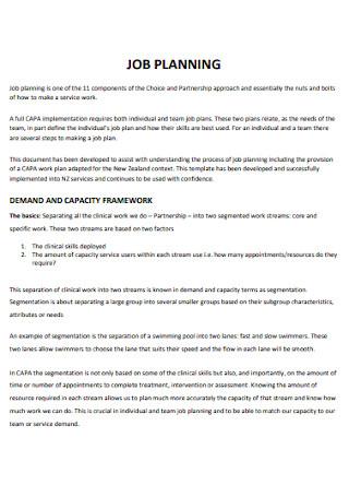 Partnership Job Plan Template