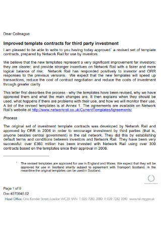 Party Investment Contract Template