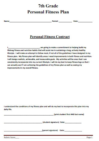 Personal Fitness Plan