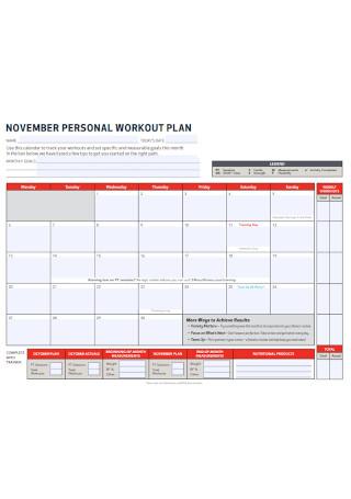 Personal Workout Plan