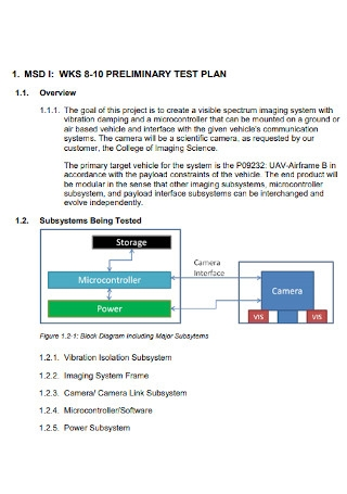 Preliminary Test Plan Template