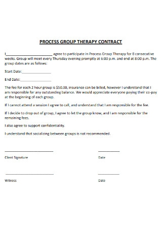 Process Group Theraphy Contract