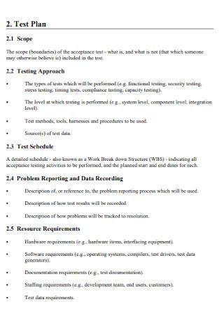 Project Acceptance Test Plan