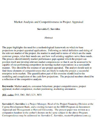 Project Market Analysis Template