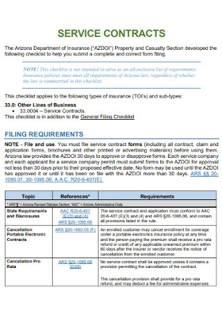 Property Service Contract Example