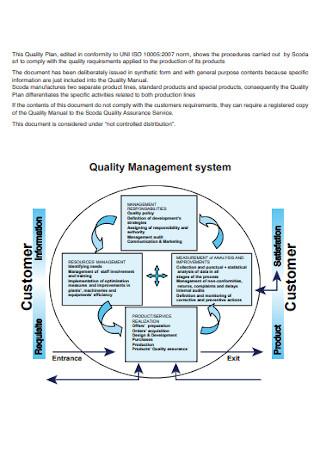 Quality System Plan