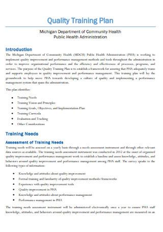 Quality Training Plans