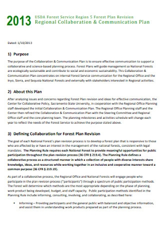 Regional Collaboration Communication Plan