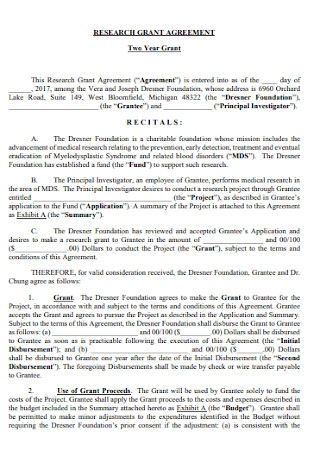 Research Grant Agreement