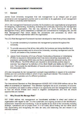 Risk Management Framework Plan