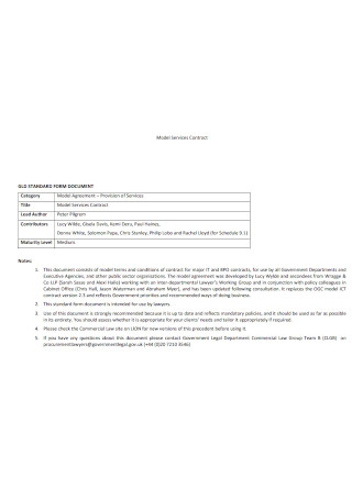 Sample Model Service Contract