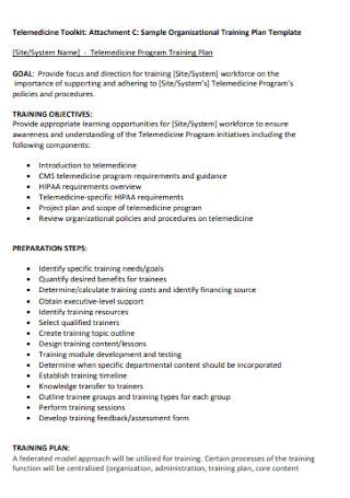 Sample Organizational Training Plan Template