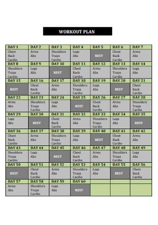 Sample Workout Plan Template