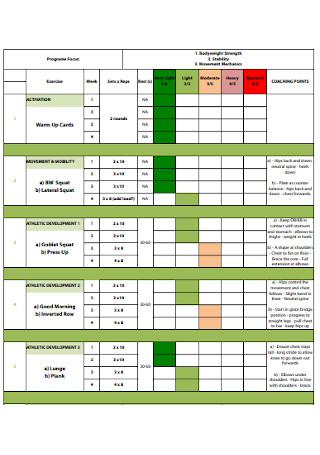 Scholars Workout Plan