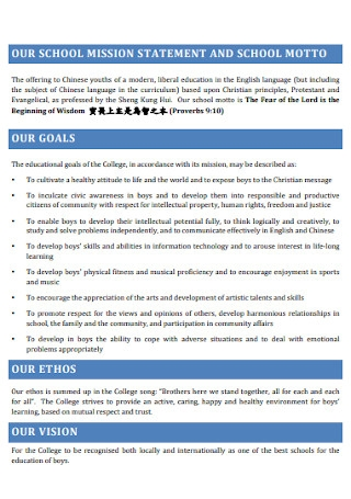 School Mission Development Plan