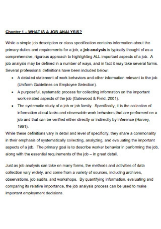 Simple Job Analysis Template